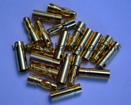 3.5mm Gold Connector 10 (Pairs)