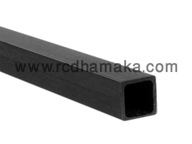 Carbon Fibre Square (Hollow) 10mm x 8mm x 1000mm