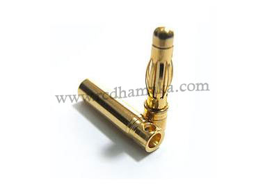 4mm Gold Connector (Pair)