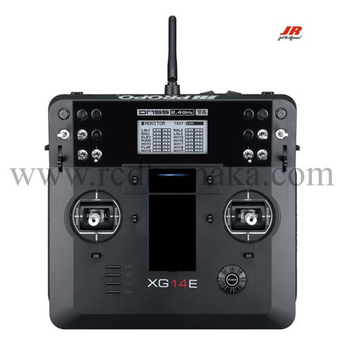 JR XG14E 14Ch w/RG712BX X-Bus Receiver and Alu Carry Case