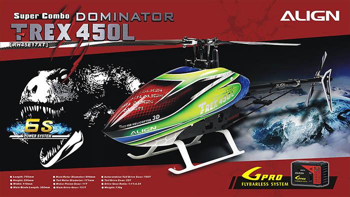 Align T-REX 450L DOMINATOR 6S Super Combo RH45E17XW
