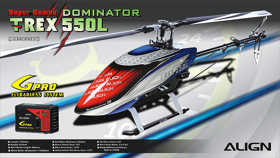 Align T-REX 550L Dominator Super Combo  RH55E09XW