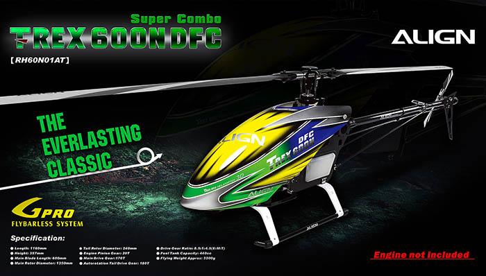 Align T-REX 600 Nitro DFC Super Combo - RH60N01AW