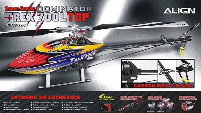 Align T-REX 700L Dominator TOPS Super Combo RH70E12XW