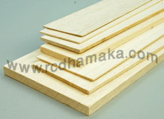 Balsa Sheet 6mm x 100mm x 1000mm