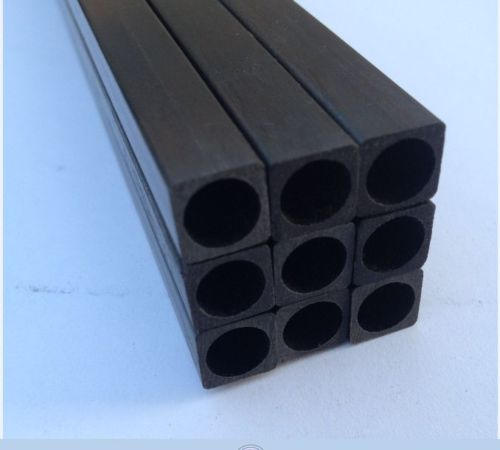 Carbon Fibre Square (Hollow) 10mm x 1000mm - Click Image to Close