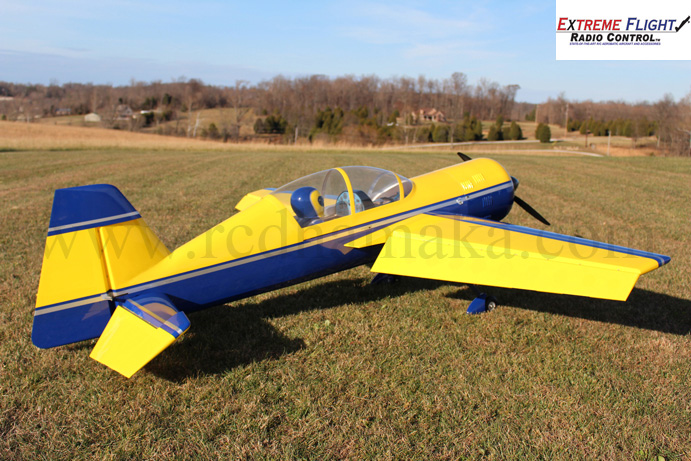 "Extreme Flight Yak 54 V2 110"" Yellow/Dark Blue"