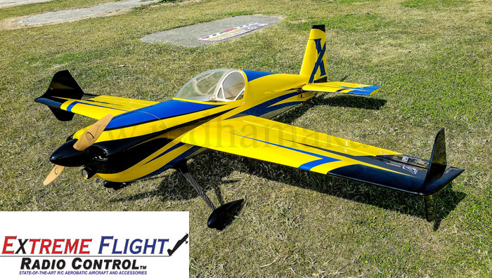 "Extreme Flight Slick 580 EXP 74"" Yellow/Blue"