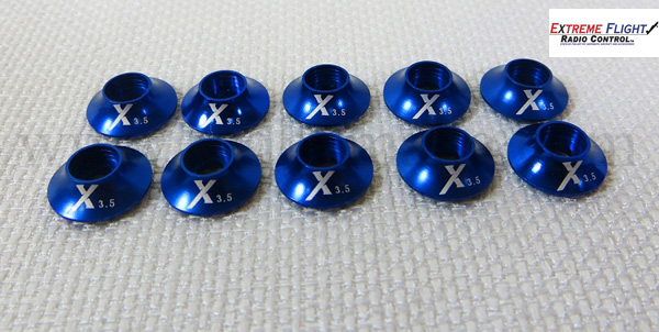Extreme Flight Washer with O ring 3mm - Blue 10pcs