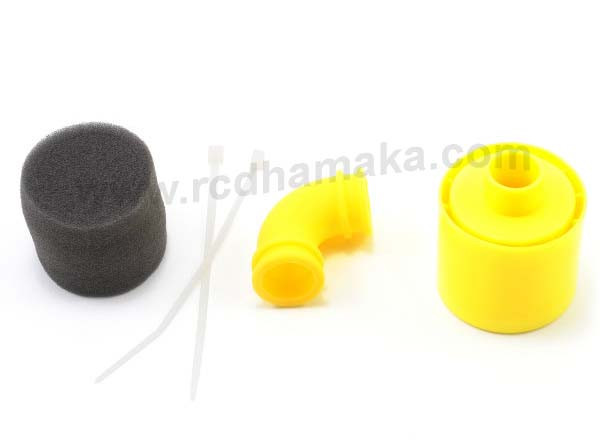 GS Racing 1/8th Air Filter Set (Double Foam) Yellow