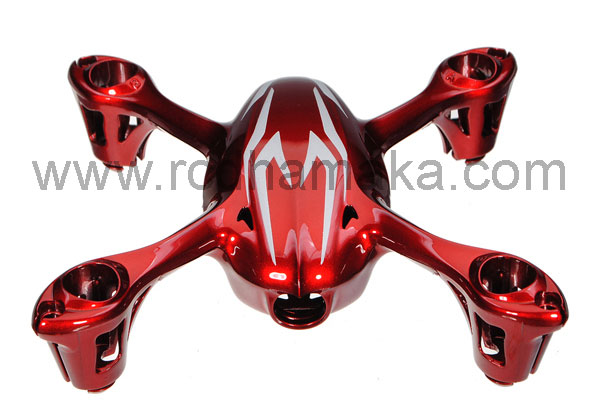 Hubsan X4 107C Camera Body Shell Red/Silver