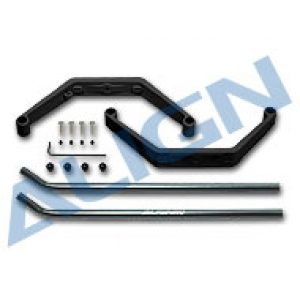 450 Landing Skid Set/Black - HS1294AAT