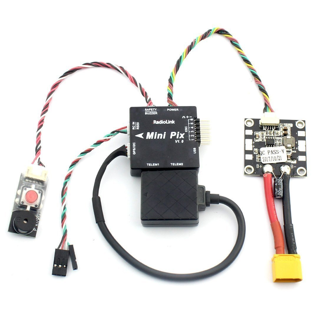 Radiolink Mini Pixhawk F4 Flight Controller with TS100 M8N GPS - Click Image to Close