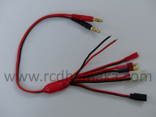 4mm to Deans/Futaba/JST/Tamiya/Extra Charging Lead