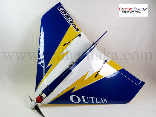 "Extreme Flight Outlaw 36"" Blue With Motor Xpwr T3520"