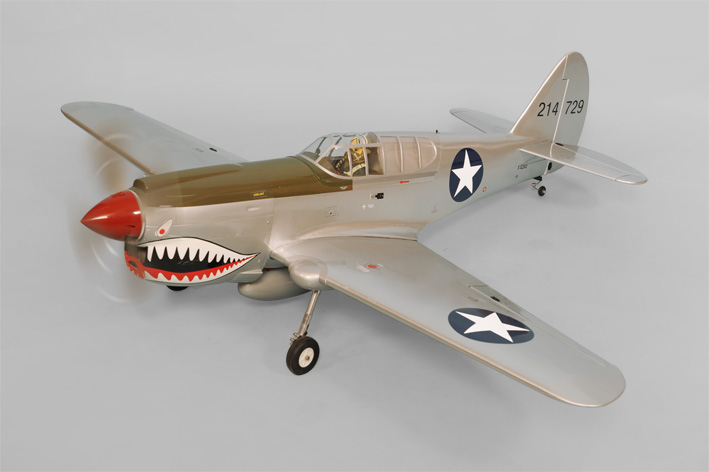 "Phoenix Model P-40 Kitty Hawk .91/15CC GP/Gas/EP ARF 64"" - 1:7"