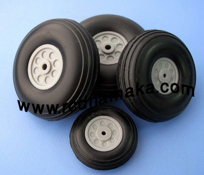 Rubber PU Wheels 3""