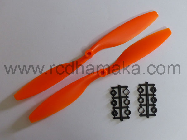 Quadcopter Propeller 10x4.5 Pair Orange