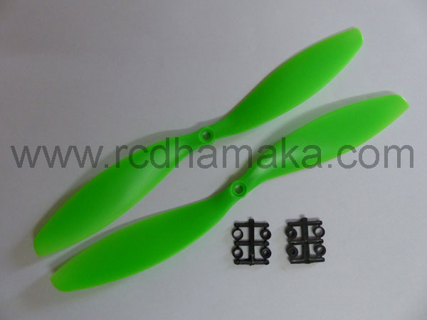 Quadcopter Propeller 11x4.7 Pair Green