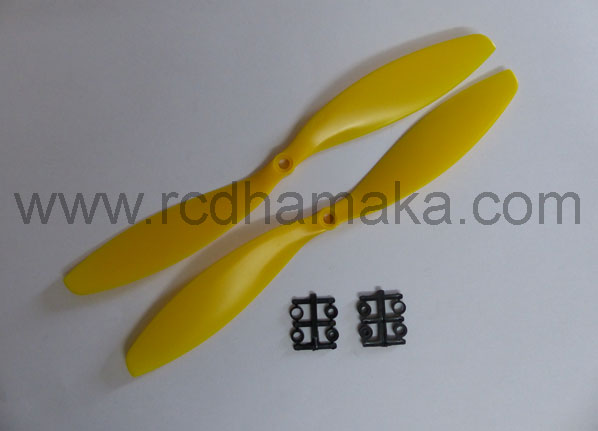 Quadcopter Propeller 11x4.7 Pair Yellow