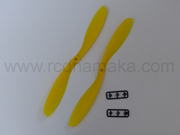 Quadcopter Propeller 8x4.5SF Pair Yellow