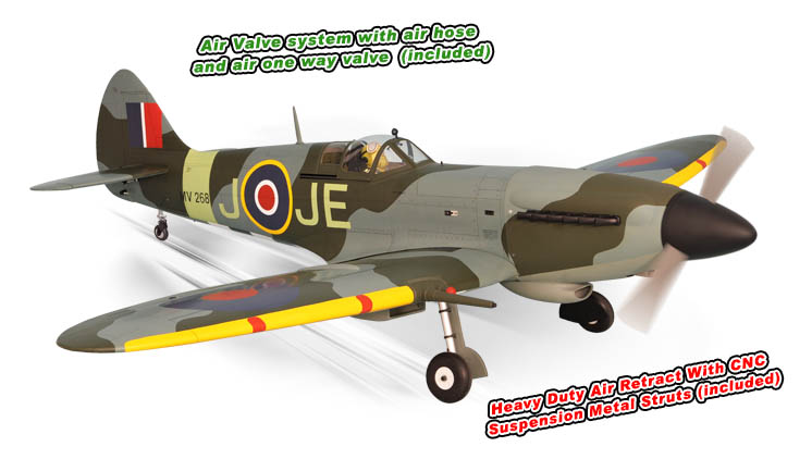 "Phoenix Model Spitfire .91/15CC GP/Gas/EP ARF 61"" - 1:7 1/4"