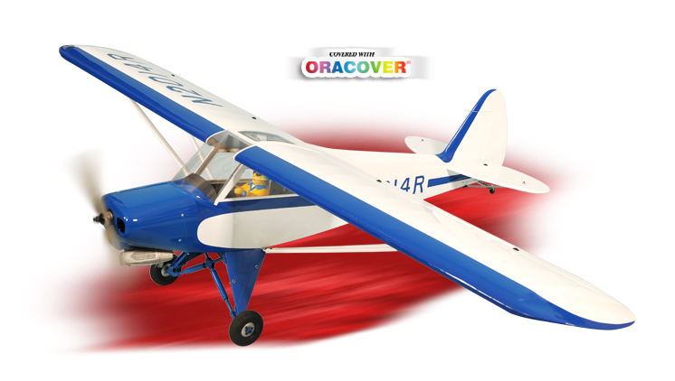 "Phoenix Model Super Cub PA-18 20cc Gas/EP ARF 91"" - 1:4 1/2"