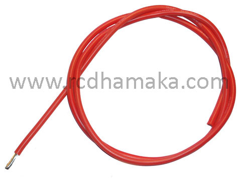 Silicone Wire 12AWG (1mtr) Red