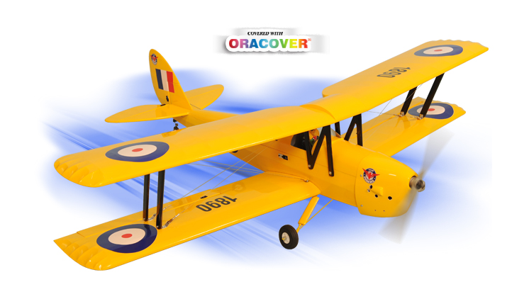 Phoenix Model Tiger Moth .46-.55 GP/EP ARF 55.3""