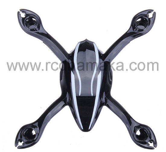 Hubsan X4 107+ Body Shell Black/Silver