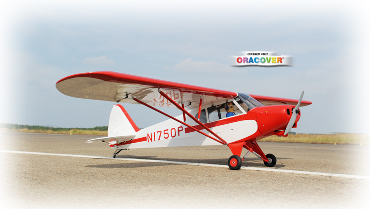 "Phoenix Model Super Cub PA-18 30cc Gas/EP ARF 107"" - 1:4"