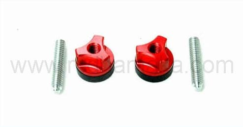 Secraft Wing Bolt M6 Aluminium Screw Red