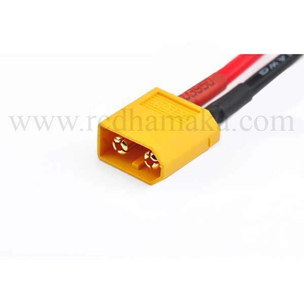 4mm Banana Plug to XT60 Silicon Charger Lead - 12 Inches / 30 cm